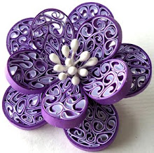 purple beehive brooch